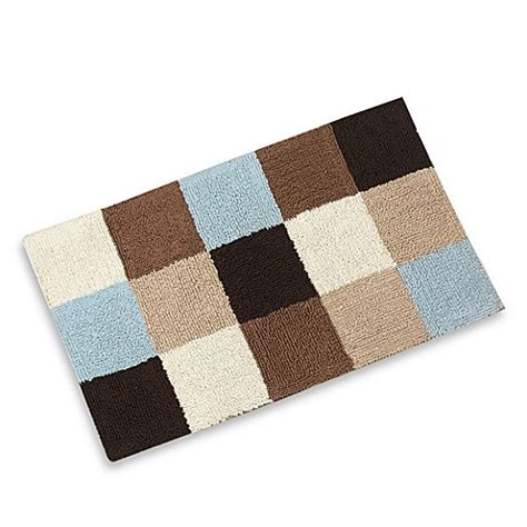 Geo Spa Patchwork Bath Rug Bed Bath Beyond Brown And Blue Bathroom Rugs