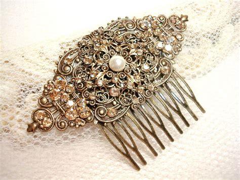 vintage bridal comb wedding comb 2226861