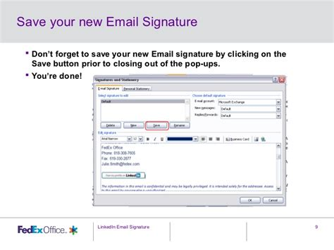 How To Put Mba In Your Email Signature by Adding Linkedin To Your Email Signature