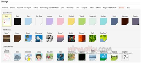 classic themes gmail gmail themes enable hd themes on gmail