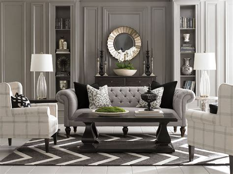 houzz living room furniture chesterfield living room by bassett furniture