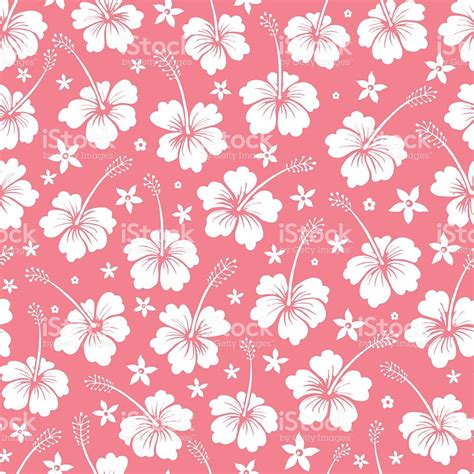 pattern flowers vector seamless tropical flowers vector pattern background stock