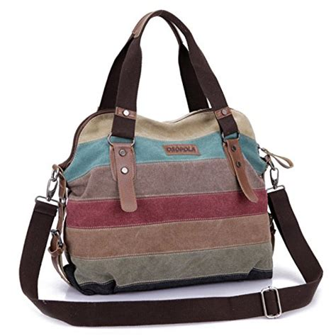 Tas Wanita Handbag Casual Canvas Donker osopola m 1196 leisure canvas top handle cross bag tote handbags for 0692357898258