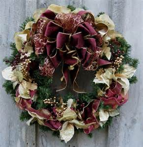 christmas wreath holiday wreath elegant d 233 cor designer