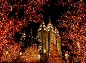salt lake city lights salt lake temple during
