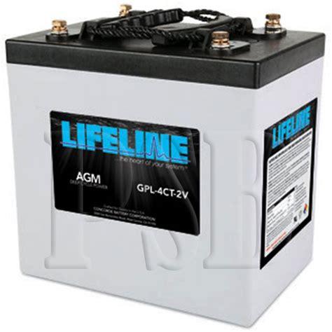 Susumu Suzukis Water Powered Battery by Gpl 4ct 2v Lifeline Oem 2 Volt 660ah Sealed Agm Cycle