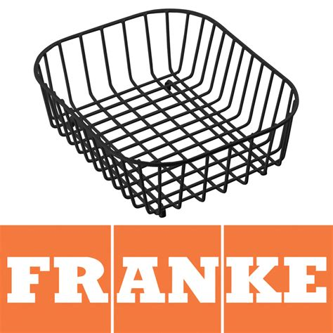 franke compact kitchen sink drainer basket black 112 0050