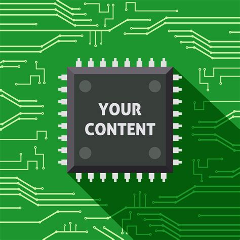 microchip  content flat background