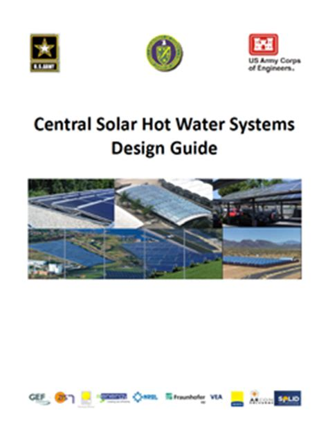 design criteria for hot water supply system central solar hot water systems design guide wbdg whole