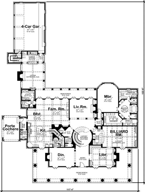 plantation style house plans 9360 square foot home 2