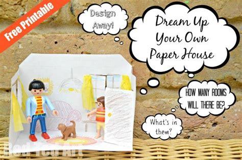 design   house paper house printable red ted arts blog