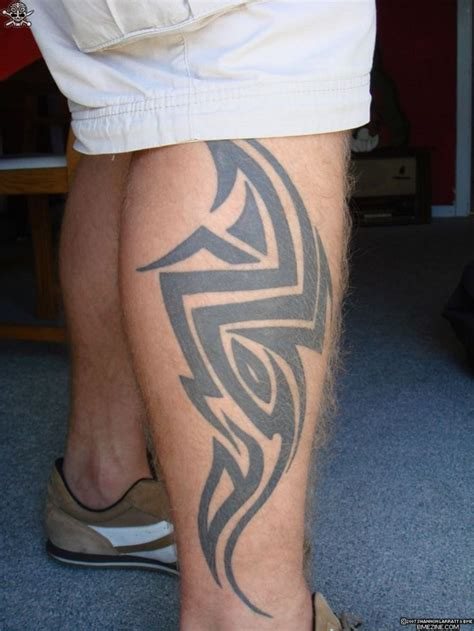 mens calf tattoos tribal designs leg for tattoos