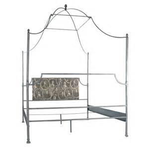 iron metal canopy bed frame