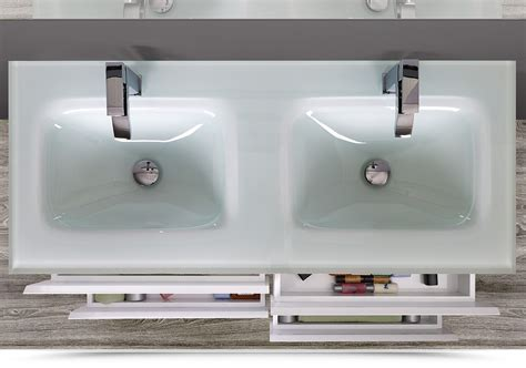 lavabo arredo arredobagno doppio lavabo black 120 cm