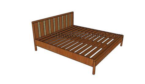 king platform bed plans howtospecialist   build