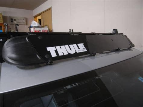 Thule Roof Rack Wind Deflector by Thule 872xt Roof Rack Wind Deflector 44 Inch Length Black