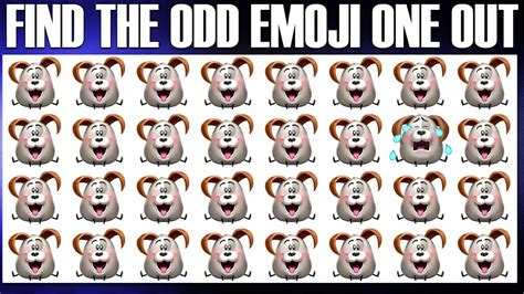 the odd one out emoji movie odd one out puzzles find the odd object one out can you spot the odd emoji one
