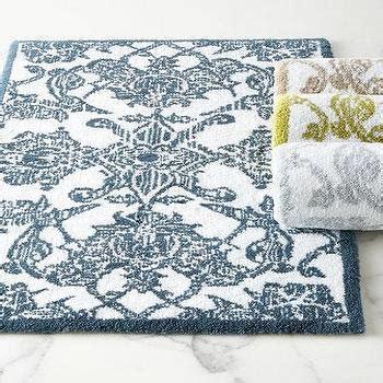 blue pattern bath rug fieldcrest luxury blue pattern bath rug