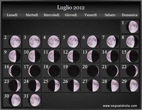 Calendario Lunare Calendario Lunare 2012 Fasi Lunari