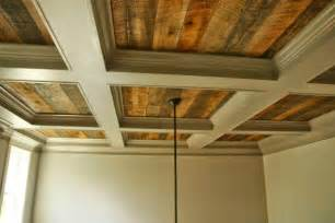 Diy Coffered Ceiling Ideas Coffered Ceiling With Rustic Wood Cofferedceiling Rustic