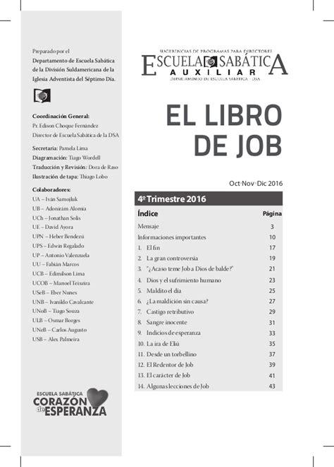 libro de escuela sabatica 2016 auxiliar escuela sab 225 tica cuarto trimestre 2016 el