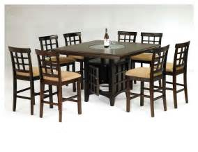 height piece rich: mission  piece counter height dining set with cappuccino finish