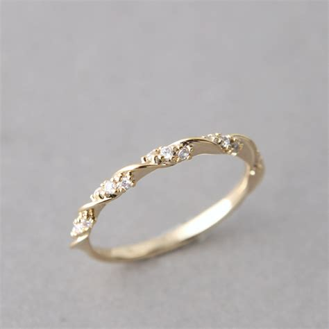 simple gold engagement ring with diamonds ipunya