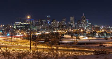 urban lights denver colorado free photo denver skyline cityscape night free image