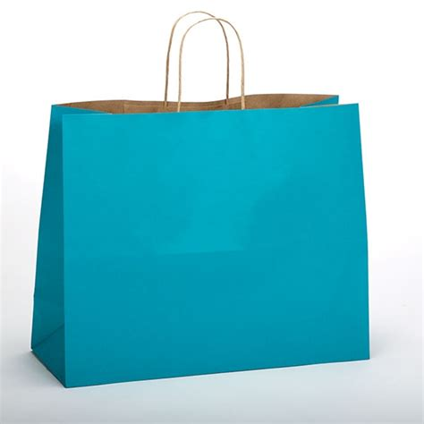 colored paper bags colored paper shopping bags aqua blue jaguar size
