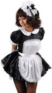 barbee satin french maids uniform