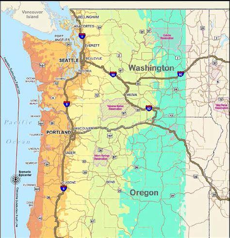 map of oregon earthquake zones northwest set to for quake river news