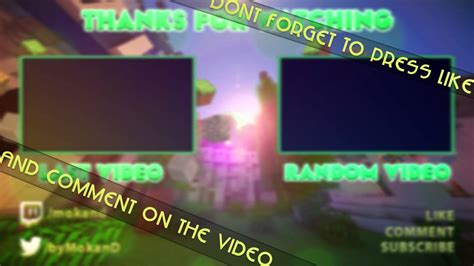 Minecraft Outro Template Maker by Minecraft Outro Template Adobe After Effects Cs6