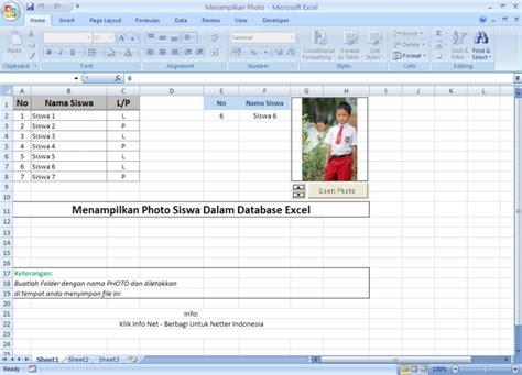 membuat database dengan excel pdf cara otomatis menilkan gambar foto siswa ke dalam