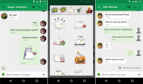 hangouts update apk hangouts update introduces stickers smart suggestions timests and more updated apk