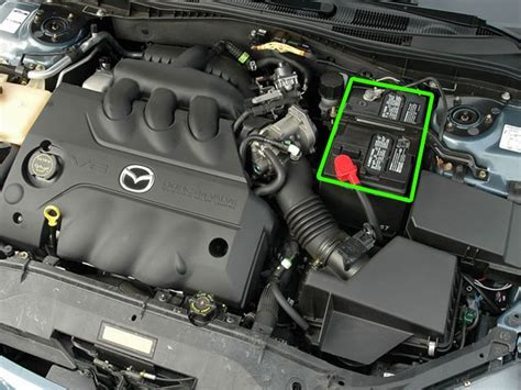 mazda 6 car battery location abs batteries