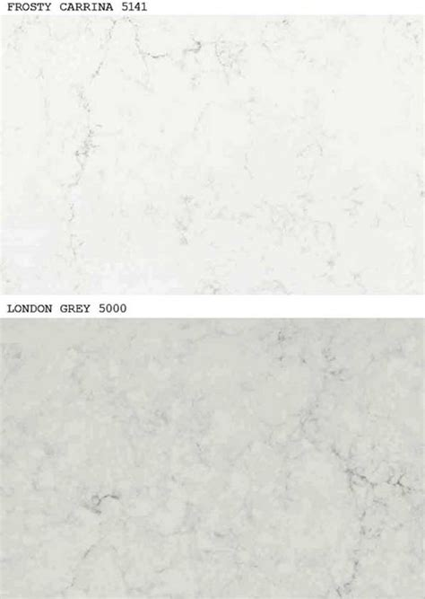 Reviews Of Ikea Kitchen Cabinets by New Caesarstone Frosty Carrina Amp London Gray Light Marble
