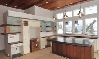 mode concrete modern kitchen with concrete countertops