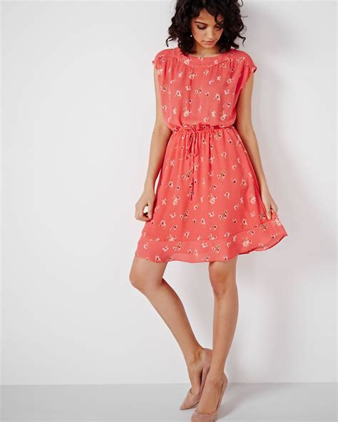 boat neck dress with frills rw co - Boat Neck Dress With Frills