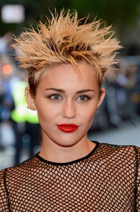 the name of mileys haircut the name of mileys haircut miley cyrus short spiked punk