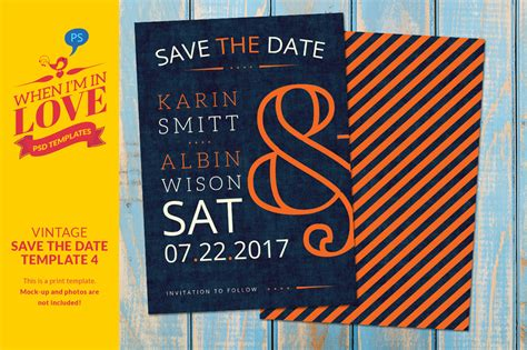 vintage save the date template 4 invitation templates on