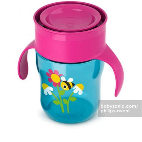 Philips Avent Grown Up Cup 12m 200ml Botol Minum Anak jual murah philips avent grown up cup 12m pink blue