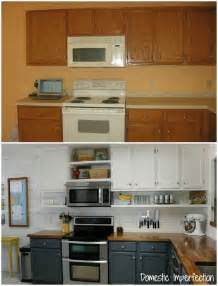 shelf for kitchen cabinets budget kitchen remodel from domestic imperfection love the shelves under the cabinets my