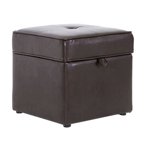 dark brown leather ottoman baxton studio sydney brown storage ottoman 28862 3878 hd
