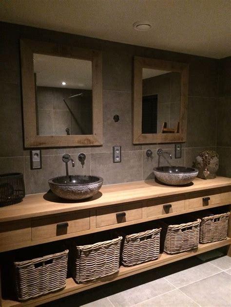 tegels badkamer liggen los meer dan 1000 idee 235 n over houten wastafel op pinterest
