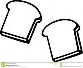 Toast Bread Slices Vector Illustration Royalty Free Stock