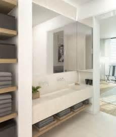 Bathroom Open Wall Shelves Poplar Wood Open Shelving For Fiveandfarm Bath