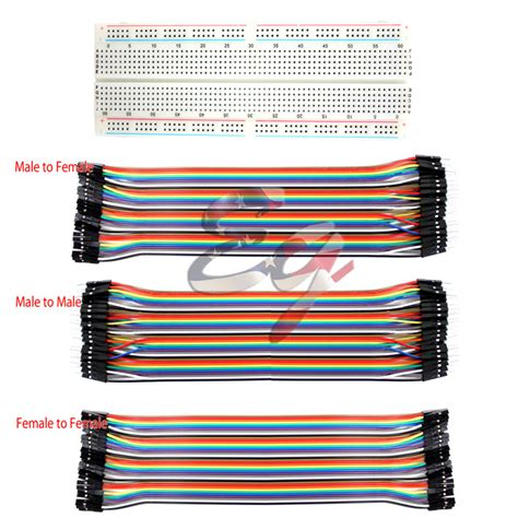 65 Root Breadboard Cables For Mb 102 1 830 tie points solderless pcb breadboard mb102 3 dupont