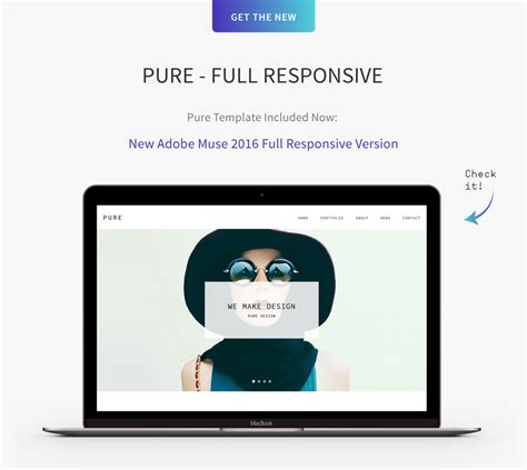 Pure Responsive Creative Portfolio Muse Template By Museframe Themeforest Muse Templates Responsive