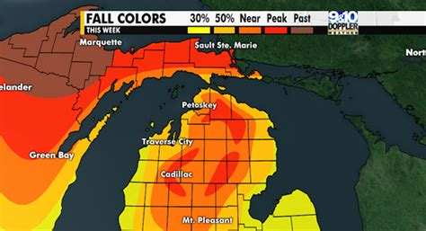 fall colors map 2016 northern michigan fall color map mynorth