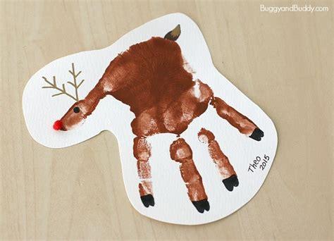 handprint reindeer christmas ornament craft  kids